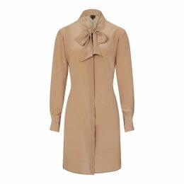 Sophie Cameron Davies - Beige Silk Bow Dress