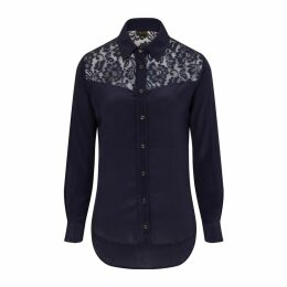 Sophie Cameron Davies - Midnight Blue Classic Silk Shirt