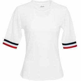 PAISIE - Asymmetric Top With One Shoulder Frills In Orange