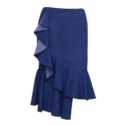 Nissa - Denim Skirt with Ruffles