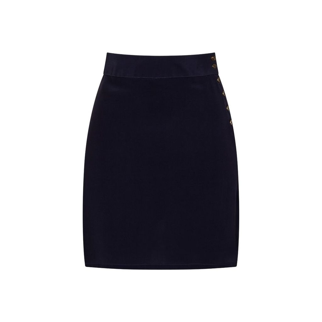Sophie Cameron Davies - Midnight Blue Silk Skirt