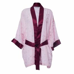 Roses Are Red - Sonata For The Dawn Kimono Pink