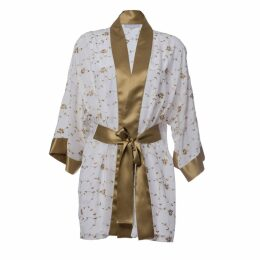Roses Are Red - Sonata For The Dawn Silk Kimono Ivory