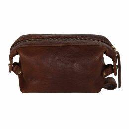 N'Damus London - Small Sloane Cognac Leather Toiletry Case