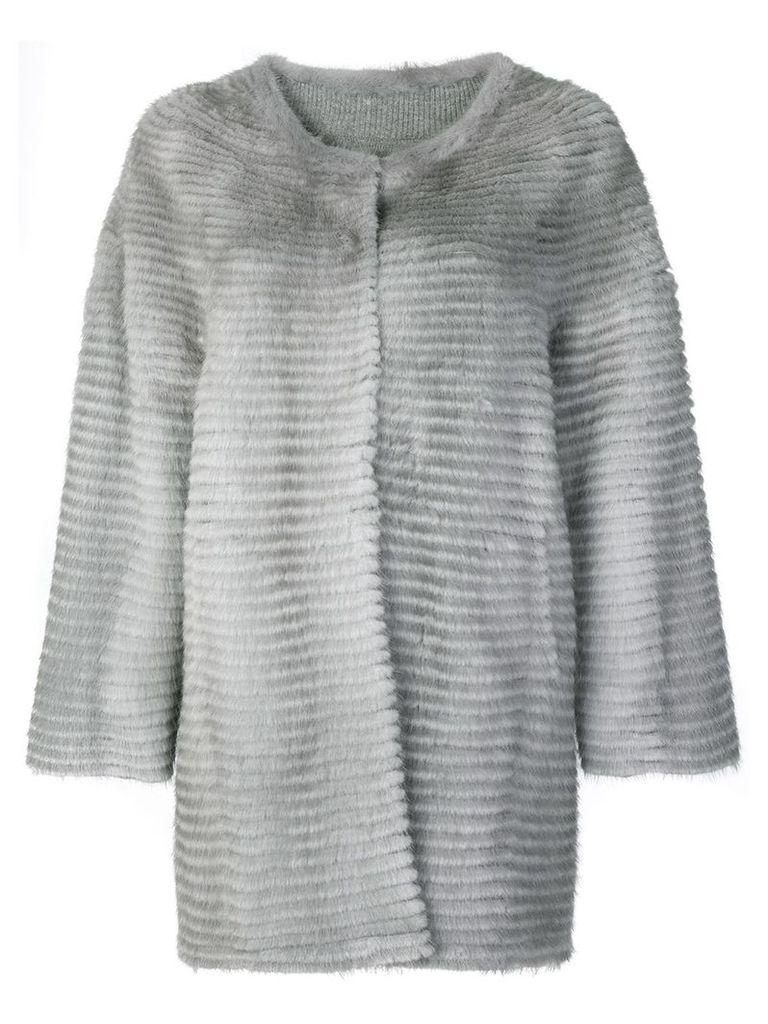 Liska collarless coat - Grey
