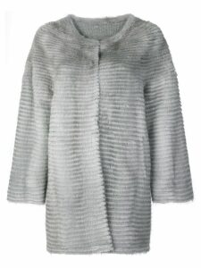 Liska collarless coat - Grey