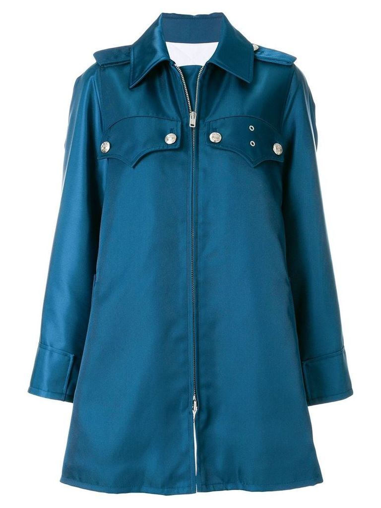 Calvin Klein 205W39nyc opera policeman coat - Blue