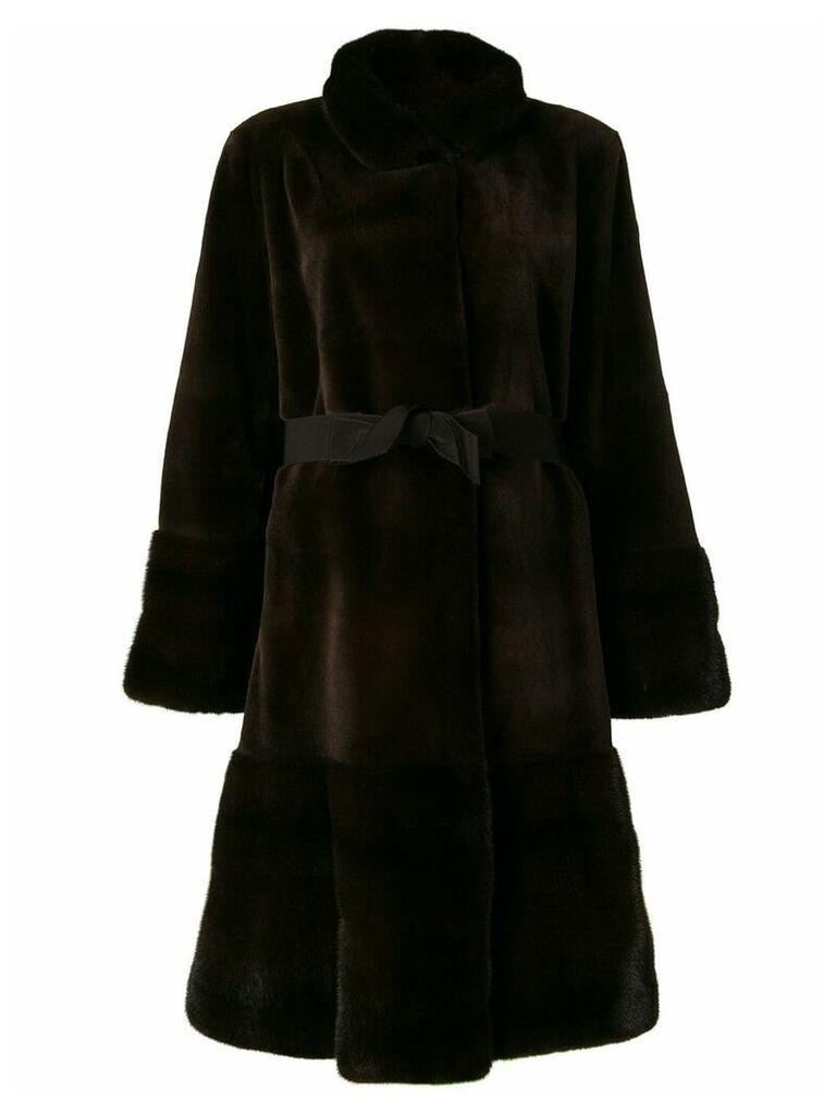Liska Shirley belted coat - Brown