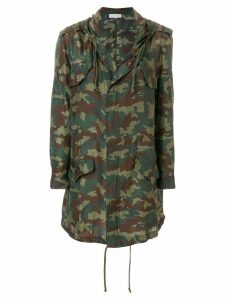 Faith Connexion camouflage print raincoat - Green