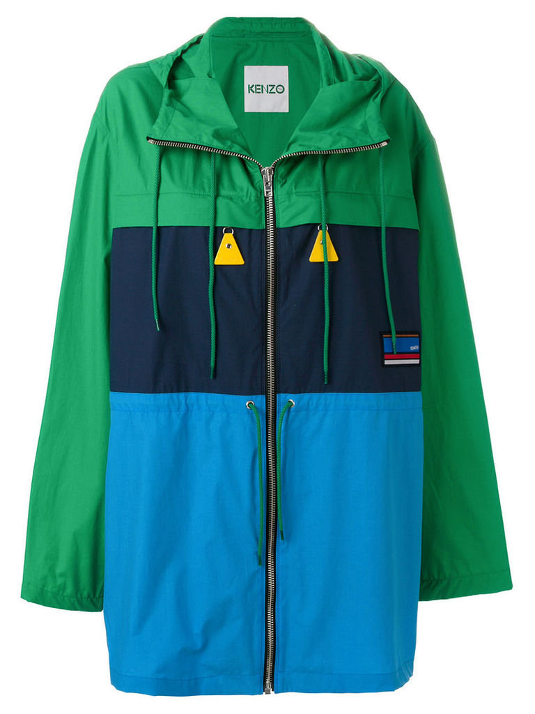 Kenzo oversized rain jacket - Blue