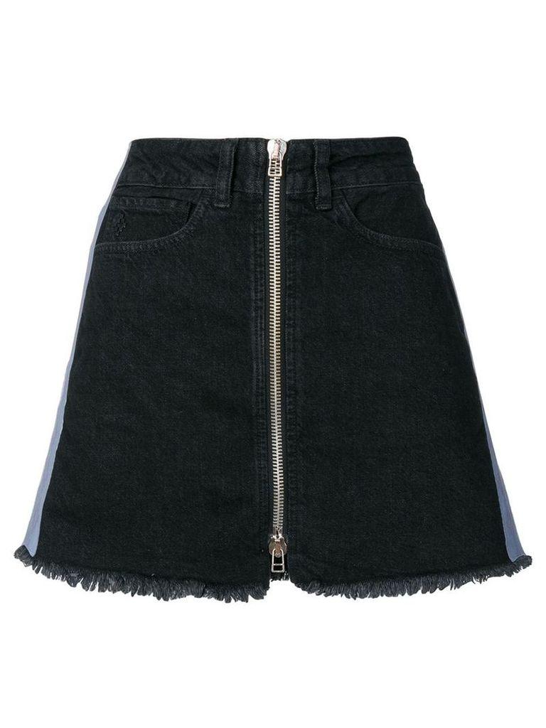 Marcelo Burlon County Of Milan Cross tape denim skirt - Black