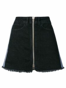 Marcelo Burlon County Of Milan Cross tape denim skirt - Black