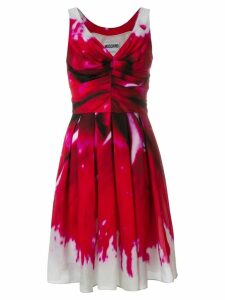 Moschino ruched bodice dress - Red