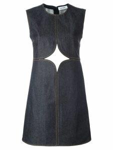Courrèges cut-off detailing denim dress - Blue