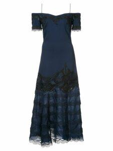 Jonathan Simkhai evening lace insert dress - Blue