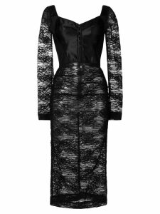 Dolce & Gabbana lace fitted midi dress - Black