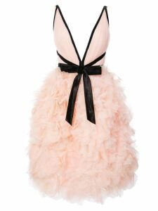 Marchesa roses cocktail dress - Pink