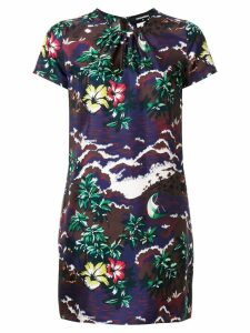Dsquared2 short printed dress - Purple
