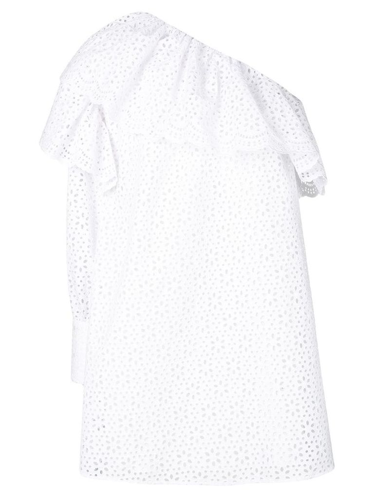 MSGM broderie anglaise dress - White