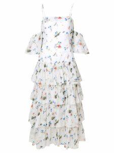 Vivetta off shoulder ruffled dress - White