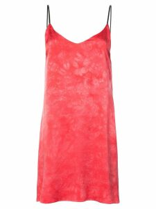 Amiri tie dye slip dress - Pink