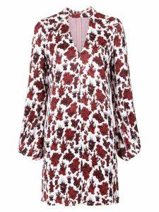 Tufi Duek foliage print shift dress - Pink