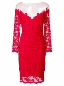Olvi´S off-shoulder floral lace dress - Red