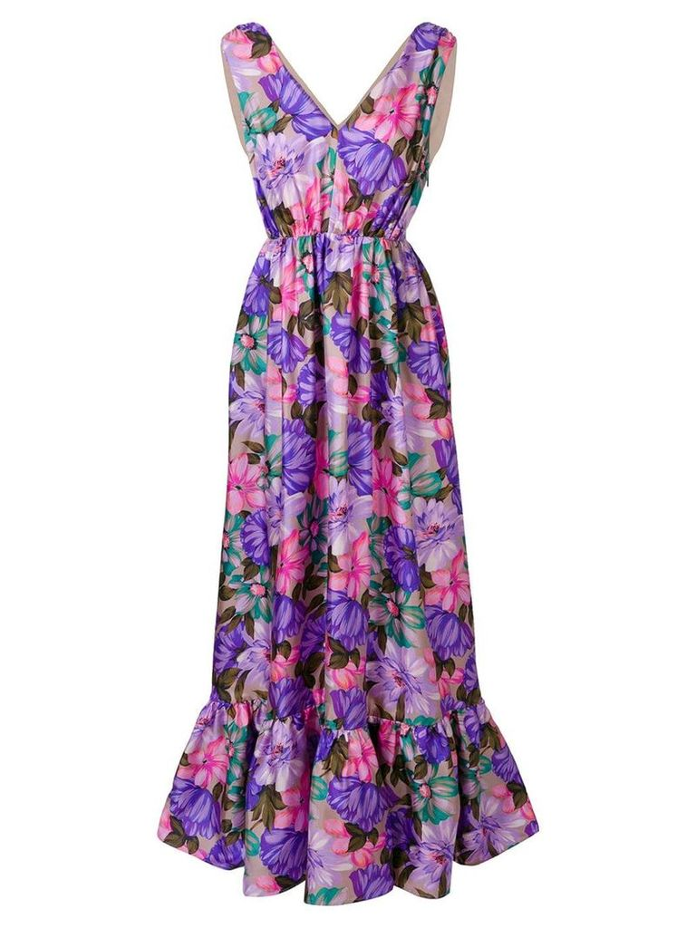 MSGM floral print long-length dress - Pink
