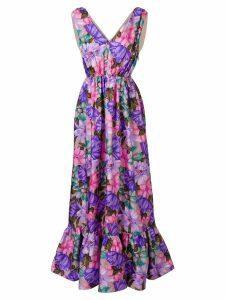 MSGM floral print long-length dress - Pink