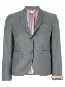 Thom Browne Classic Single Breasted Sport Coat With Wristwatch