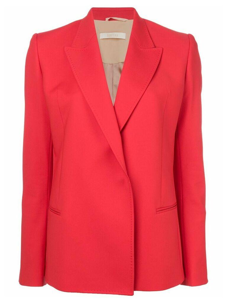 Ssheena fitted V-neck blazer - Red