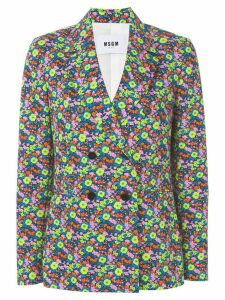 MSGM floral design jacket - Multicolour