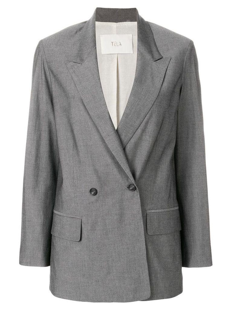 Tela double breasted blazer - Grey