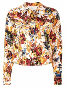 MSGM flower print jacket - Multicolour