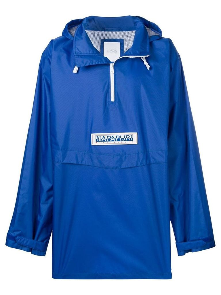Napa By Martine Rose logo rain jacket - Blue