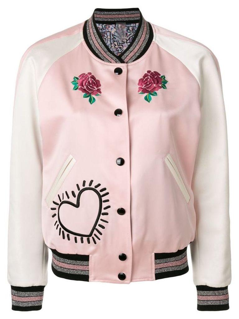 Coach X Keith Haring reversible satin jacket - Pink
