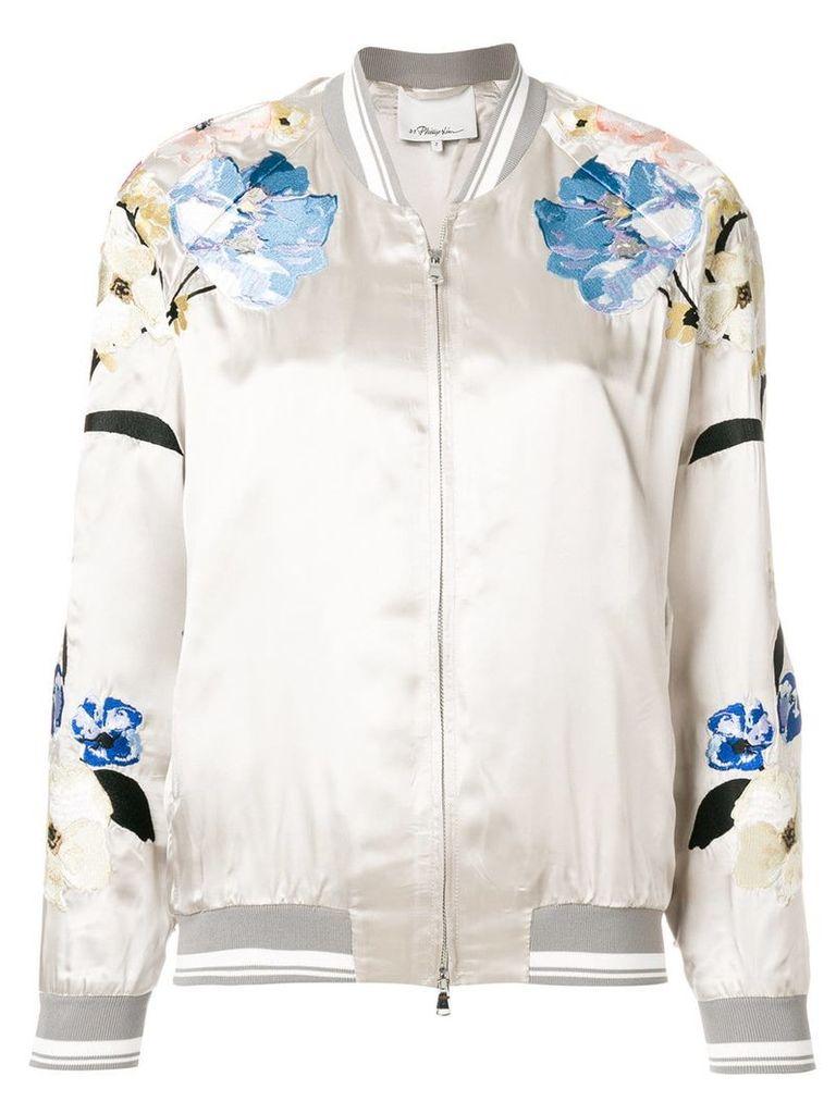 3.1 Phillip Lim floral bomber jacket - Grey