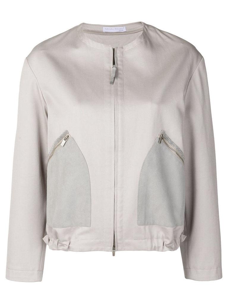 Fabiana Filippi zipped jacket - Neutrals