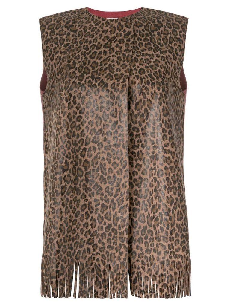 Daniela Pancheri leopard print vest - Brown