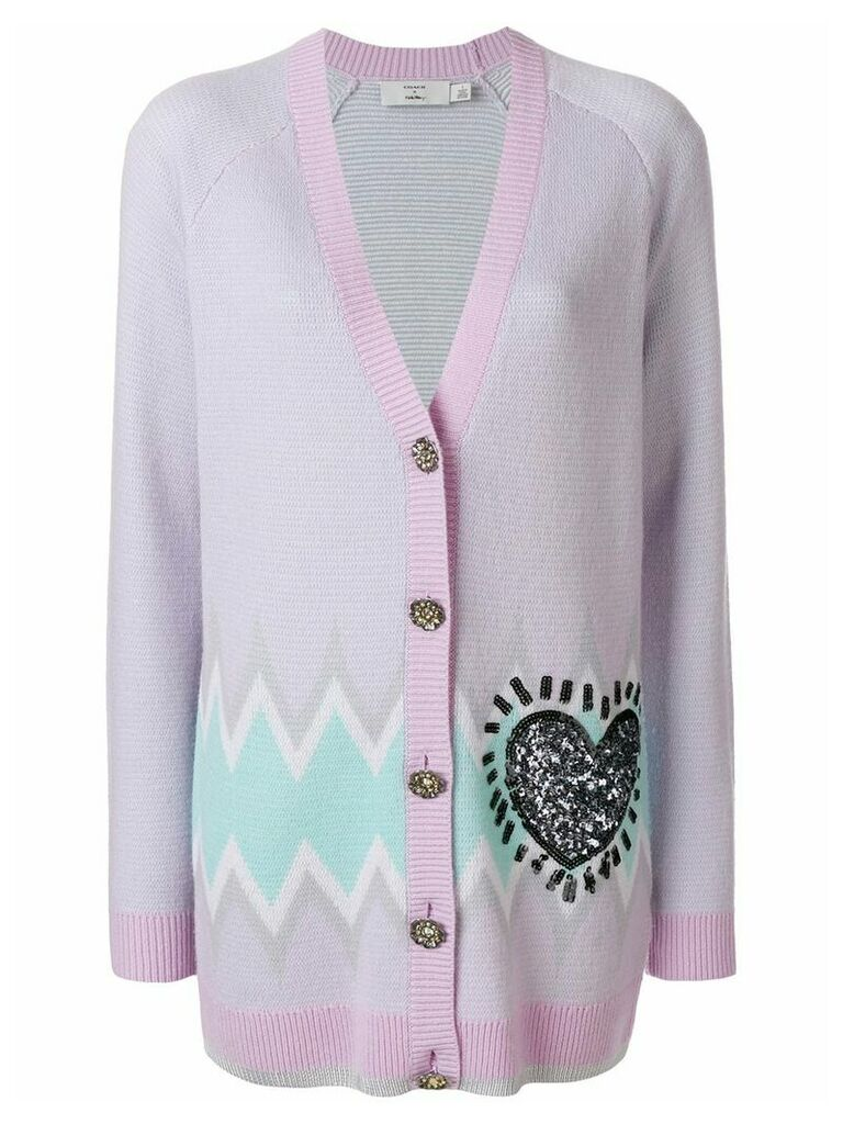 Coach X Keith Haring long cardigan - Pink