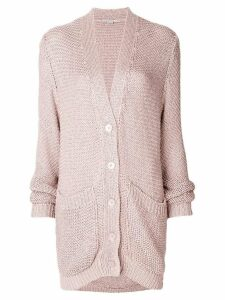 Stella McCartney dropped shoulder cardigan - Pink