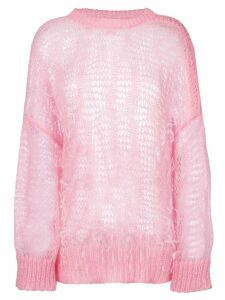 Nº21 ostrich feather sweater - Pink