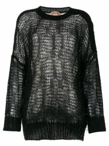 Nº21 loose-knit jumper - Black