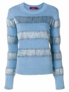 Sies Marjan velvet stripe sweater - Blue