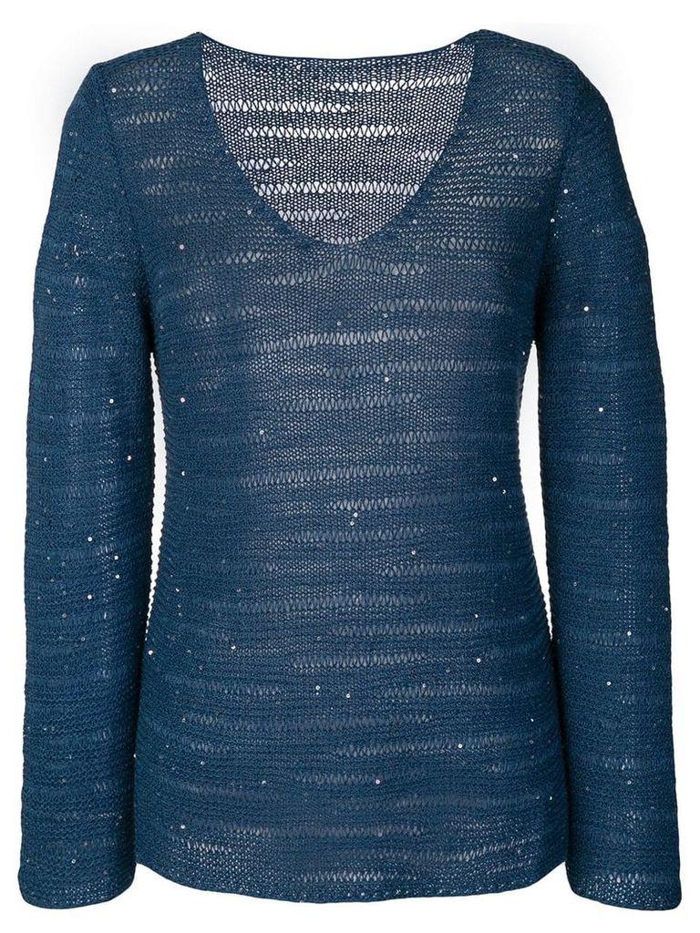 Le Tricot Perugia v-neck jumper - Blue