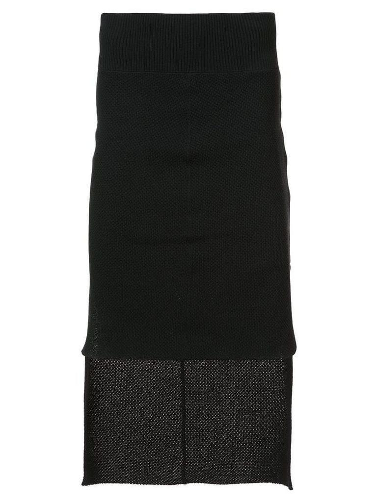 Nude low high skirt - Black