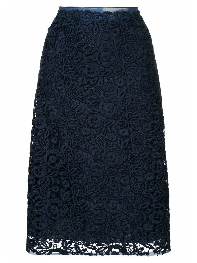 Miu Miu floral lace skirt - Blue