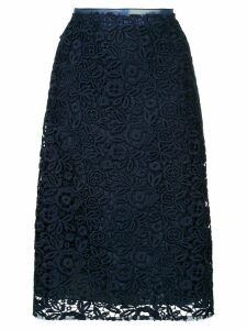 Miu Miu floral lace skirt - Blue