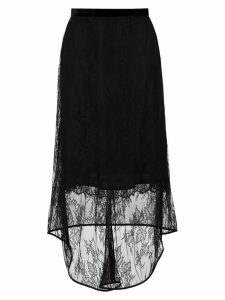 Tufi Duek asymmetric lace skirt - Black