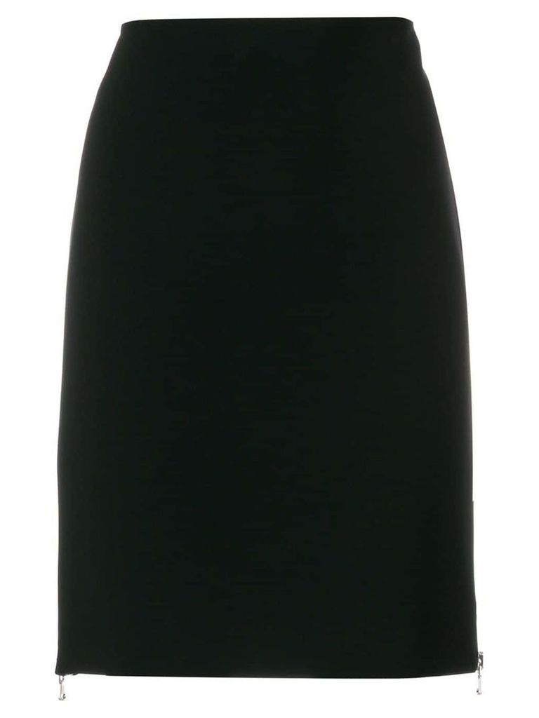Moschino high waisted side zip skirt - Black